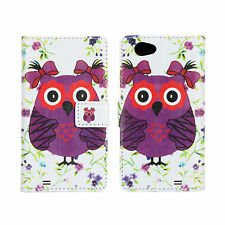 Lady Owl Design For Sony Xperia Z1 Compact/Mini Leather Wallet Case Cover Stand