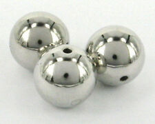 50 PCS Round Silver Metal Plated Beads Loose Craft Spacer 7mm