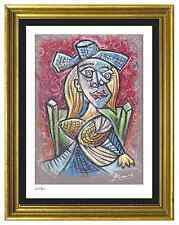 "Pablo Picasso Signed & Hand-Numberd Ltd Ed ""Seated Woman"" Litho Print (unframed)"