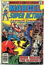 MARVEL SUPER ACTION 2 VERY RARE 35 CENT PRICE VARIANT VG- .35 CAPTAIN AMERICA