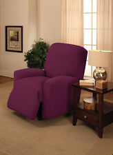 "JERSEY RECLINER COVER----LAZY BOY----PURPLE---""WASHABLE"" ---9 SOLIDS & 3 PRINTS"
