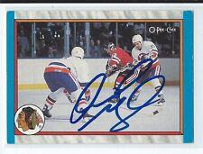 Dirk Graham Signed 1989/90 O-Pee-Chee In Action Card #301