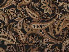 Saxon 454 Paisley Black 100% Polyester Fabric