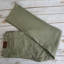 Lands End Womens Size 12 Jeans Mid Rise Straight Olive Green