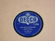 "TOMMY STEELE 10"" 78 RPM RECORD ""ROCK WITH THE CAVEMAN""."