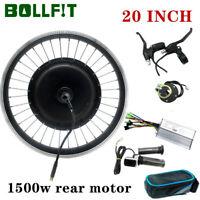 "20""Rear Wheel 48V 1500W Electric Bike E-bike Conversion kit 1500W Hub Motor"