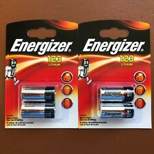 4 x Energizer CR123 CR123A 123 3v Lithium Photo Battery Longest Expiry Date