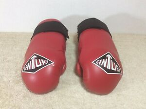 Century Vintage Youth Sparring Gloves Karate Boxing Hook & Loop Straps Size CH