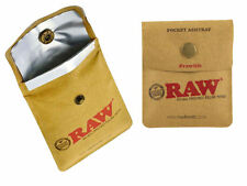 RAW Pocket Ashtray Tobacco Pouch Snap button close, heat lined  Buy 2 get 1 Free