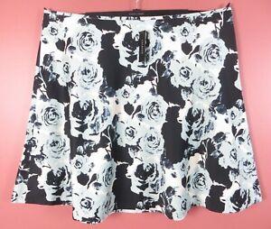 SK17039- NWT TALBOTS Women Lightweight Cotton A-Line Flare Skirt Floral 22W $109