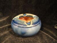 Royal Doulton Blue Pottery Ashtray English Signed Mint