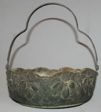 ANTIQUE ORNATE FLORAL SILVERPLATED / COPPER BASKET
