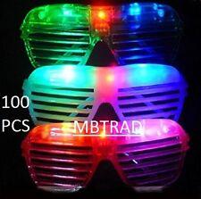 100 LED SHUTTER GLASSES LIGHT UP SUNGLASSES FLASHING RAVE SUNGLASSES PARTY GLASS
