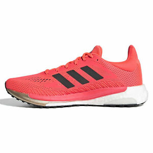 Adidas Solar Glide 3 Shoe Men's Running Trainers Signal Pink/Red FV7255 Size 9.5