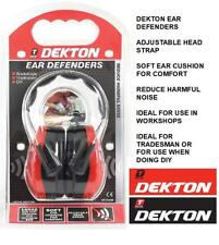 DEKTON EAR DEFENDERS REDUCE HARMFUL NOISE PROTECTION PPE WORKSHOPS TRADESMAN