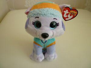 TY EVEREST HUSKY DOG PAW PATROL OFFICIAL BRAND NEW BEANIE BOOS PLUSH SOFT TOY