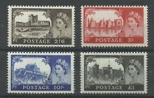1967 Set of 4 No Watermark Castles, Sg 759-762, Unmounted Mint