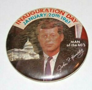 1961 JOHN F KENNEDY JFK INAUGURATION pin pinback button badge campaign political