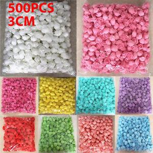 500 Foam Mini Artificial Roses Heads Buds Fake Flowers Wedding Party Decor TT AU