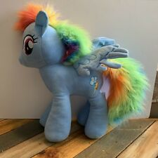 "My Little Pony Large Rainbow Dash Plush Stuffed Toy 20"" Hasbro Blue Pegasus 2014"