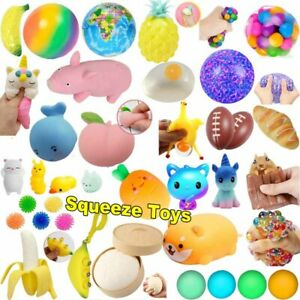 Decompression Anti Stress Relief Balls Squishy Toy Squeeze Toys Set Kids Adults