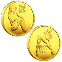 Tails I Get Head ! Sexy Heads Tails Challenge Token Coin US WAREHOUSE FAST SHIPP