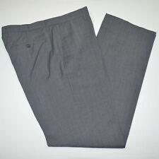 BANANA REPUBLIC Modern Slim Fit 100% Wool Flat Charcoal Dress Pants 36 x 34
