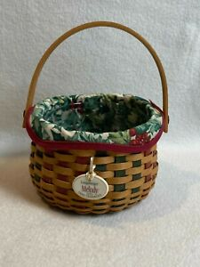 Longaberger (2003) Miniature Tree Trimming Melody Basket with Moveable Handle