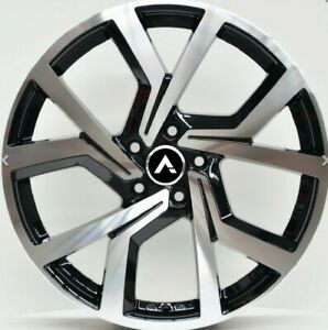 GTR 2 18X8 WHEELS TO FIT VW GOLF 18 INCH WHEELS ONLY MACHINED BLACK set of4