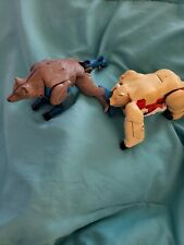 Vintage 1986 Hasbro Takara lot of 2 animal/ transformed to robot. Used condition