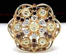 Estate 5.00Ct Natural Multi-Color Diamond 14K Solid Two Tone Gold Ladies Ring