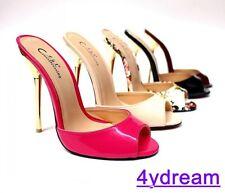 Party Women Open Toe Stiletto High Heels Slippers Shoes Cross Mules Sandals Sz