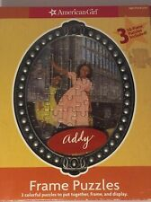 """AMERICAN GIRL """"ADDY"""" Puzzles Three Frame  *RETIRED*  New In Original Box Classic"""