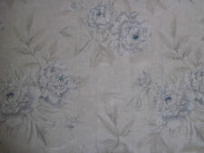 "Ralph Lauren Tela De Cortina ""moonbeach Floral"" 3.35 metros Celeste Azul Voile"