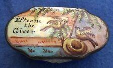 Antique 18th Cen Georgian BILSTON BATTERSEA Enamel Patch Box Esteem the Giver UK