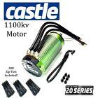 Castle Creations 2028 Series 1100kv Sensored Brushless Motor With 300 Black Ties
