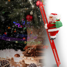 Animated Electric Climbing Ladder Santa Claus Doll Party Musical Christmas Decor