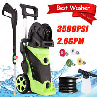 3500PSI 2.6GPM Electric Pressure Washer High Power Cold Water Washing Cleaner.