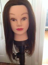 HAIREALM Training Head Hairdressing Mannequin Manikin Doll (human hair)
