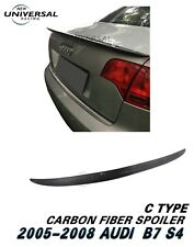 Carbon Fiber Rear Trunk Spoiler Wing For 2005-2008 Audi S4 B7 Sedan 4dr Type C