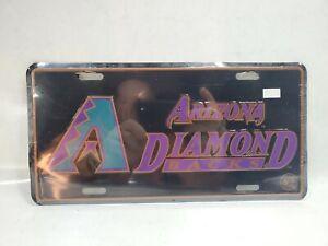 Vintage(NEW) Arizona Diamondbacks Stamped Metal License Plate MLB/NOS/Embossed..