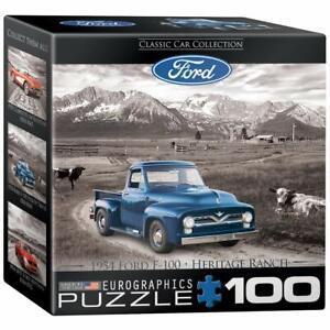 EuroGraphics Ford F 100 Pick Up Truck Mini Jigsaw Puzzle (100-Piece)