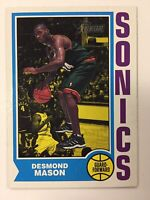 2001-02 DESMOND MASON Topps Heritage SuperSonics Card #194 Rookie Card RC
