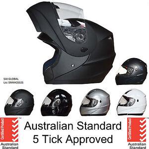 NEW FULL FACE Modular Flip Up Front Helmet Suit Road Bike Motorcycle AS/NZS1698