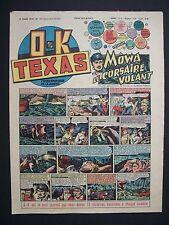 O.K TEXAS, L'Hebdomadaire de l'Aventure , N° 141 , MÔWA le Corsaire , 1949 ,TBE