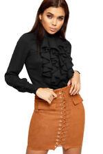 Maglie e camicie da donna lunghezza ai fianchi con colletto classico taglia 38