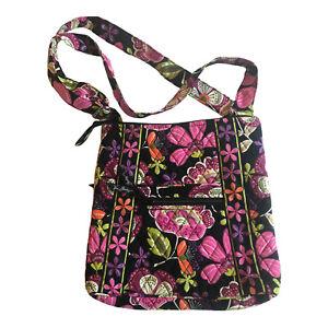 Vera Bradley Pirouette Pink Retired Hipster Handbag Crossbody Floral