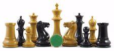 "Reproduction Club Size 1850-55 Antique Staunton 4.4"" Ebonized Chess Set"