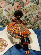 lot= poupée noire ancienne    petit colin +, catalan celluloid  des années 50