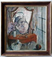 """Listed USA Artist - Gibbons - 20th. C. - Oil / B - 24""""x 26"""". Signed"""